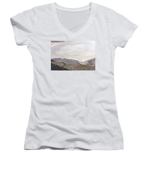 Women's V-Neck T-Shirt (Junior Cut) featuring the photograph Dante's View #2 by Stuart Litoff