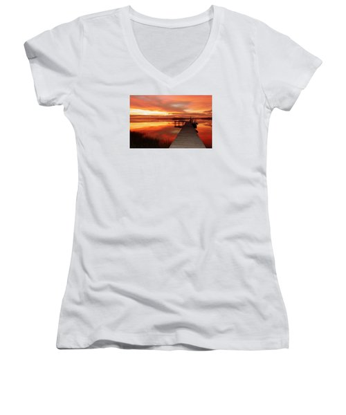 Dawn Of New Year Women's V-Neck T-Shirt