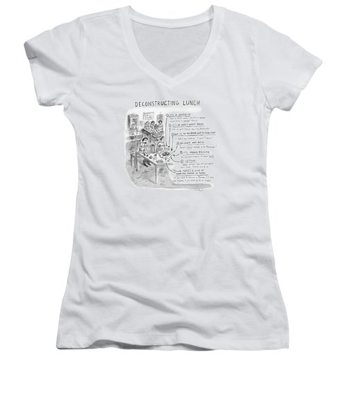 Deconstructing Lunch Women's V-Neck