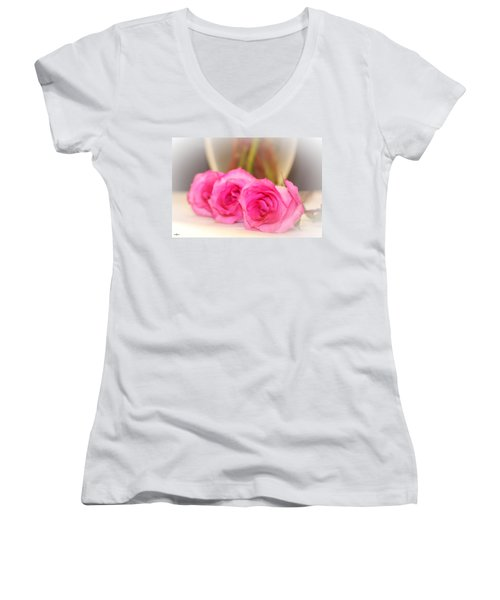 Delicate In Pink  Women's V-Neck