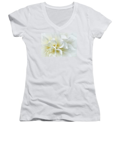 Delicate White Softness Women's V-Neck