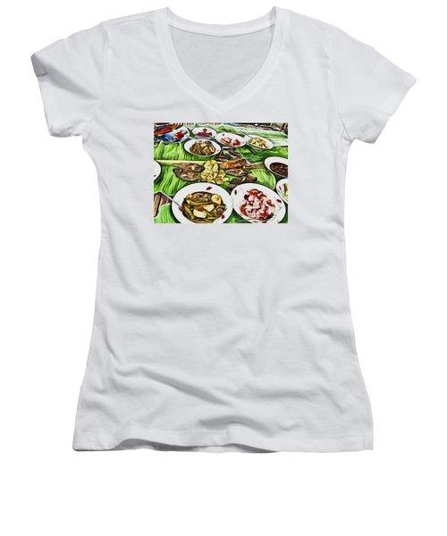 Deliciously Fresh Women's V-Neck T-Shirt