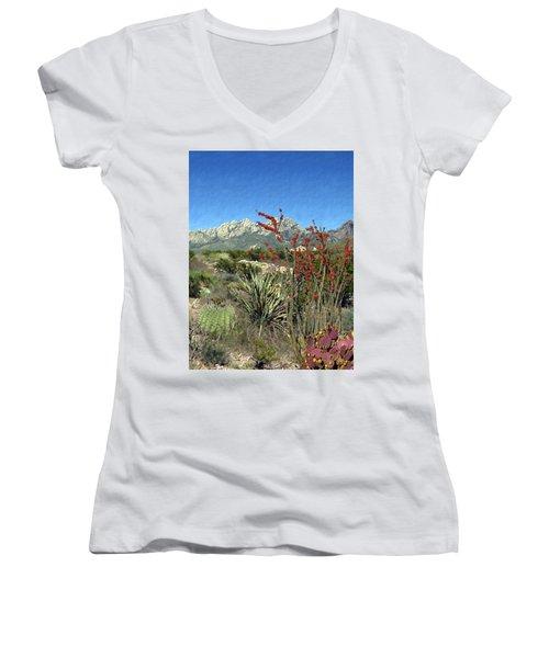 Desert Bloom Women's V-Neck