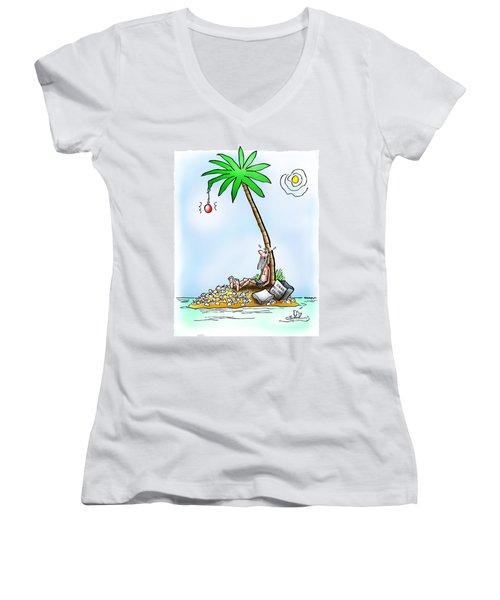 Desert Island Christmas Women's V-Neck