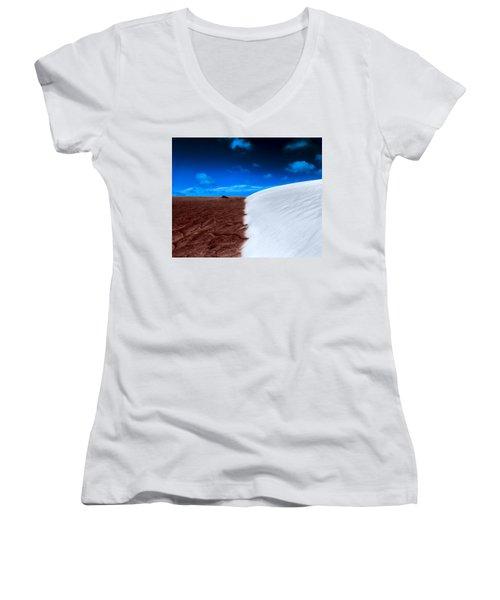 Desert Sand And Sky Women's V-Neck