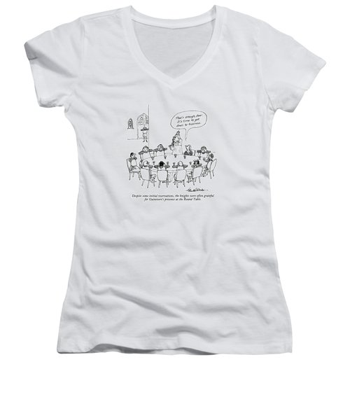 Despite Some Initial Reservations Women's V-Neck T-Shirt (Junior Cut) by J.B. Handelsman
