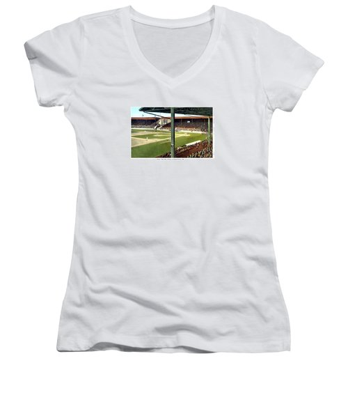 Detroit - Navin Field - Detroit Tigers - Michigan And Trumbull Avenues - 1914 Women's V-Neck (Athletic Fit)