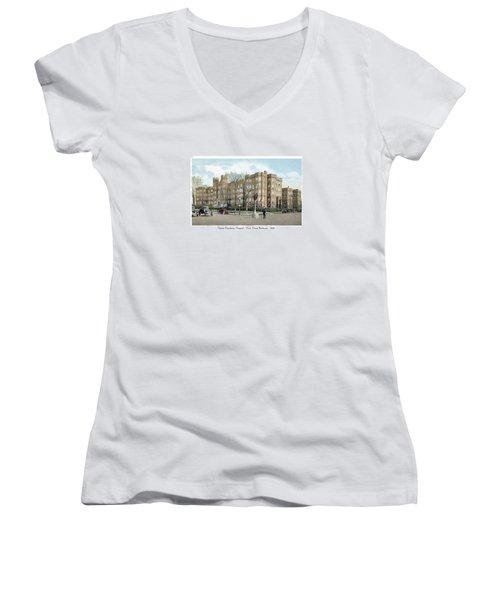 Detroit - Providence Hospital - West Grand Boulevard - 1926 Women's V-Neck T-Shirt