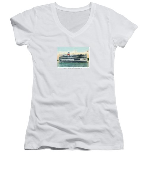 Detroit - Ss Sainte Claire - Boblo - Browning Steamship - 1938 Women's V-Neck (Athletic Fit)