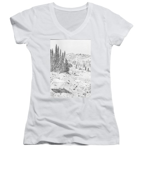 Devil's Castle Women's V-Neck T-Shirt