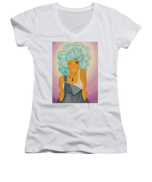 Diamond In The Rough Women's V-Neck