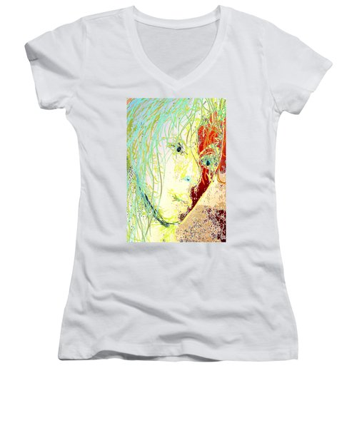 Disillusionment Women's V-Neck T-Shirt (Junior Cut) by Jacqueline McReynolds