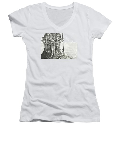 District 9 Women's V-Neck T-Shirt