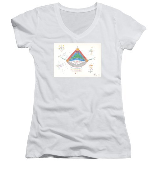 Divine Balance Women's V-Neck T-Shirt