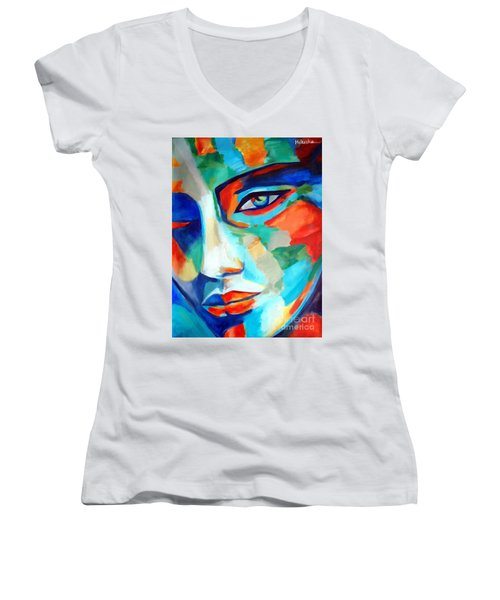 Divine Consciousness Women's V-Neck (Athletic Fit)
