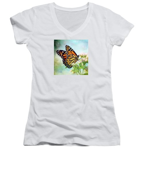 Women's V-Neck T-Shirt (Junior Cut) featuring the photograph Divine Things by Kerri Farley