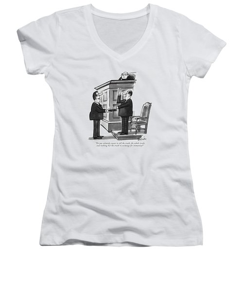 Do You Solemnly Swear To Tell The Truth Women's V-Neck