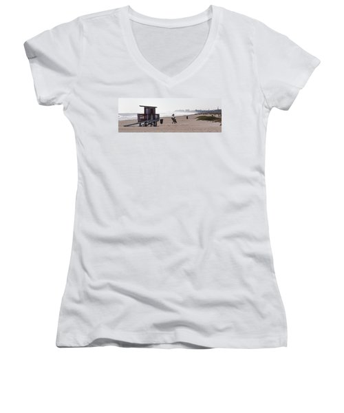 Done Surfing Women's V-Neck (Athletic Fit)