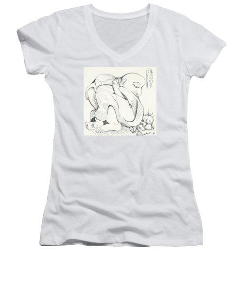 Don't Sit On Me Women's V-Neck T-Shirt
