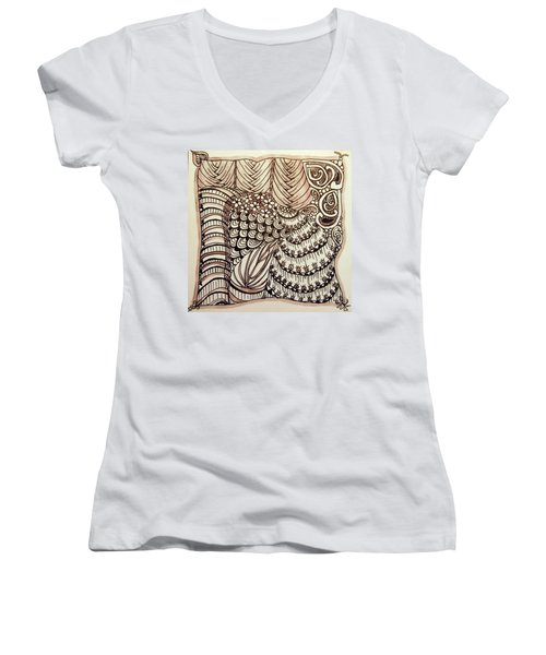 Doodling Fun Women's V-Neck T-Shirt