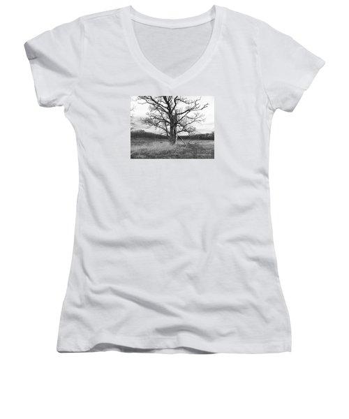 Dormant Beauty Bw Women's V-Neck T-Shirt