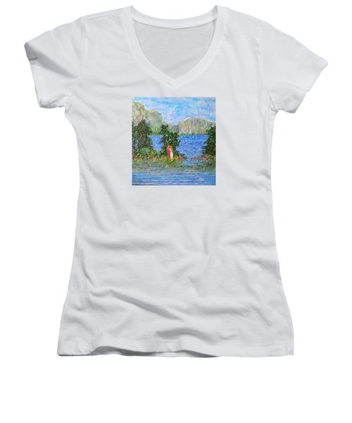 Down By The River Women's V-Neck T-Shirt