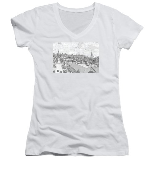Downtown Port Washington Women's V-Neck
