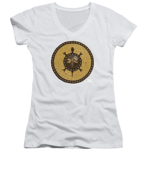 Dragonfly Turtle Women's V-Neck