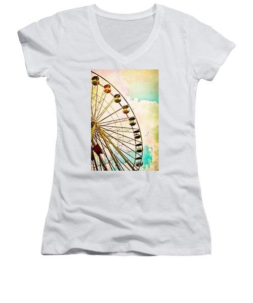 Dreaming Of Summer - Ferris Wheel Women's V-Neck