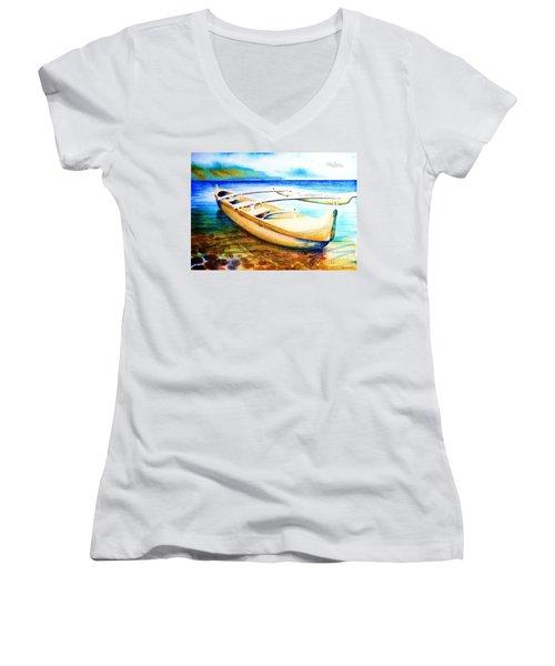 Dreams Of Polynesia Women's V-Neck T-Shirt