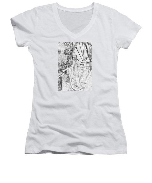 Drive Wheels Dm  Women's V-Neck T-Shirt