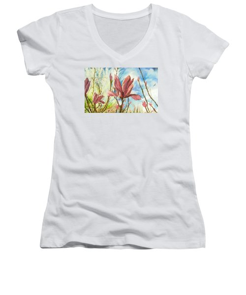 Drops Of Morning Women's V-Neck
