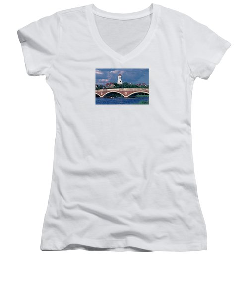 Weeks Bridge Charles River Women's V-Neck T-Shirt