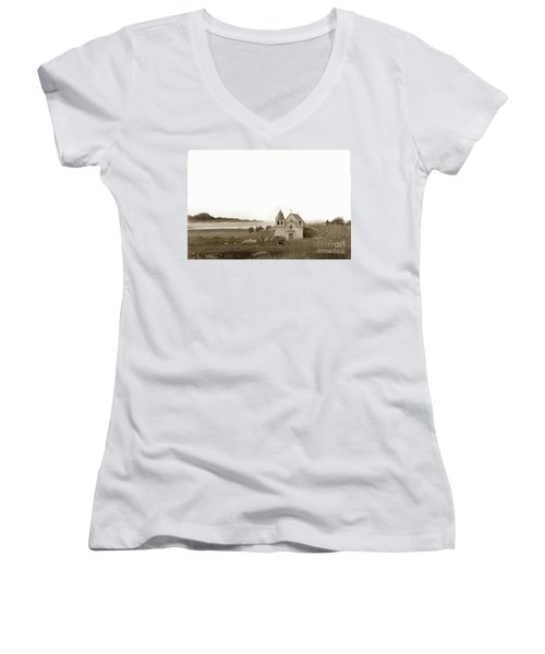 Early Carmel Mission And Point Lobos California Circa 1884 Women's V-Neck