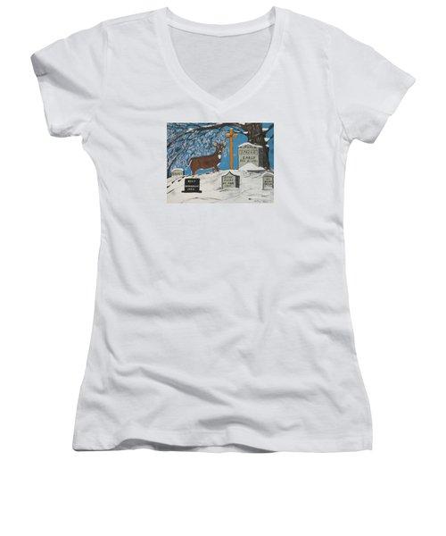 Early Spring Women's V-Neck T-Shirt