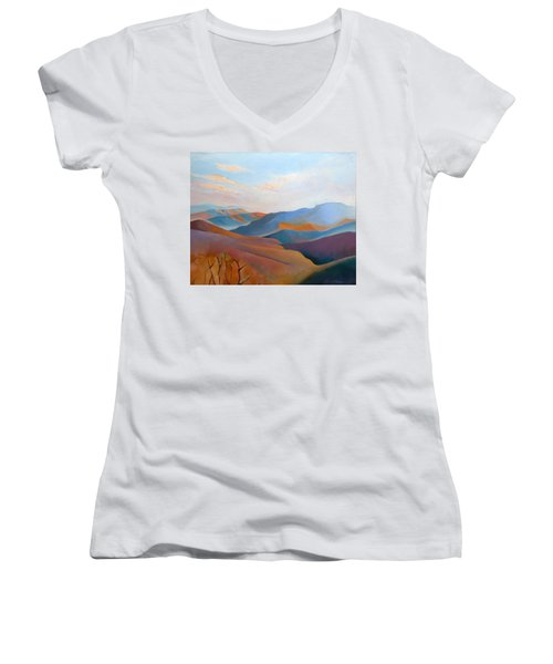 East Fall Blue Ridge No.3 Women's V-Neck T-Shirt