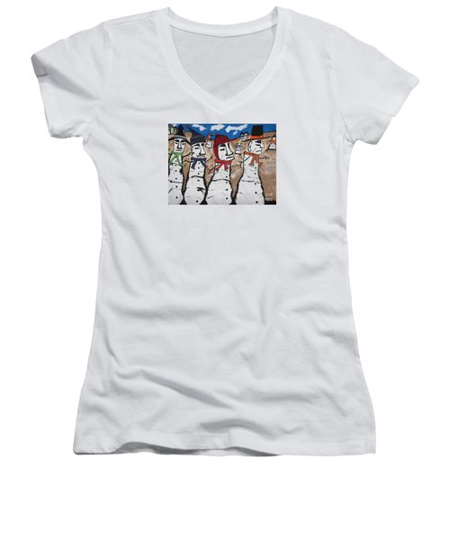 Easter Island Snow Men Women's V-Neck T-Shirt