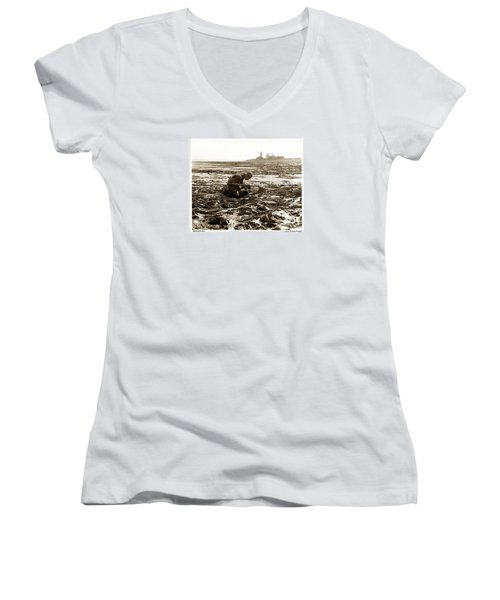 Ed Ricketts At Point Wilson Lighthouse In Port Townsend Wa 1930 Women's V-Neck (Athletic Fit)