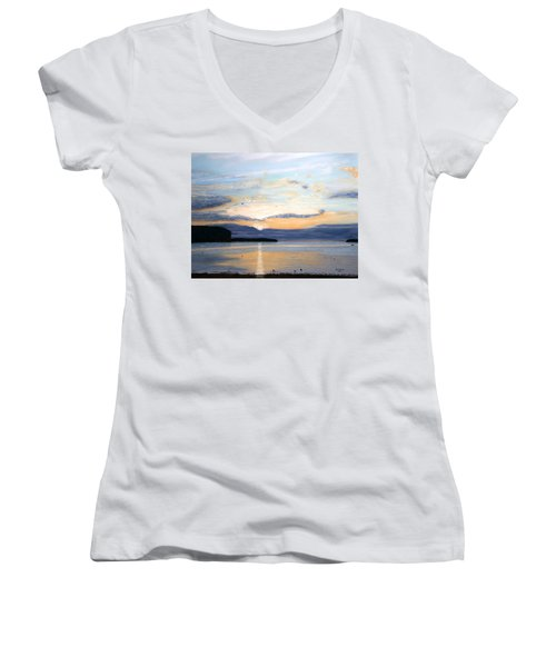 Eileen's Sunset Women's V-Neck (Athletic Fit)