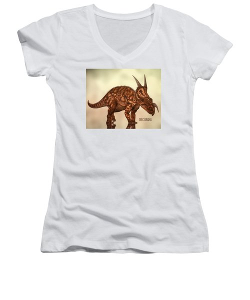 Einiosaurus Women's V-Neck T-Shirt