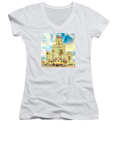 El Cortez Women's V-Neck