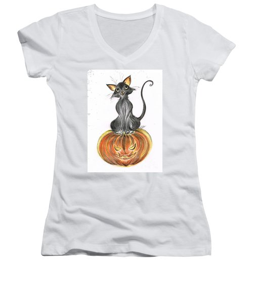 Elma's Pumpkin Women's V-Neck T-Shirt