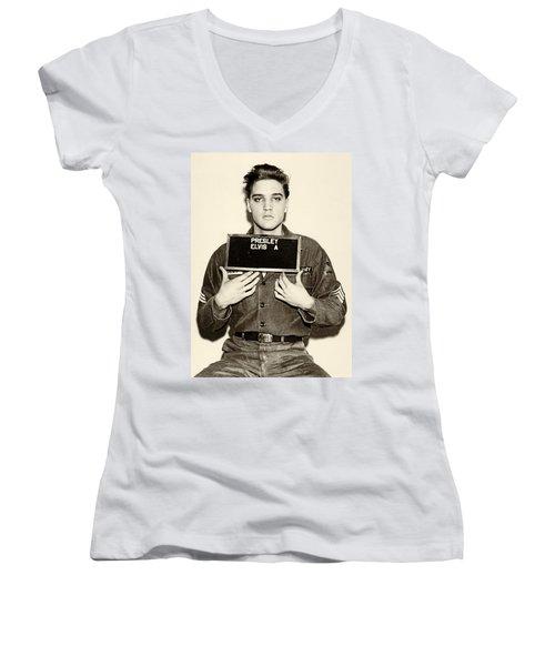 Elvis Presley - Mugshot Women's V-Neck