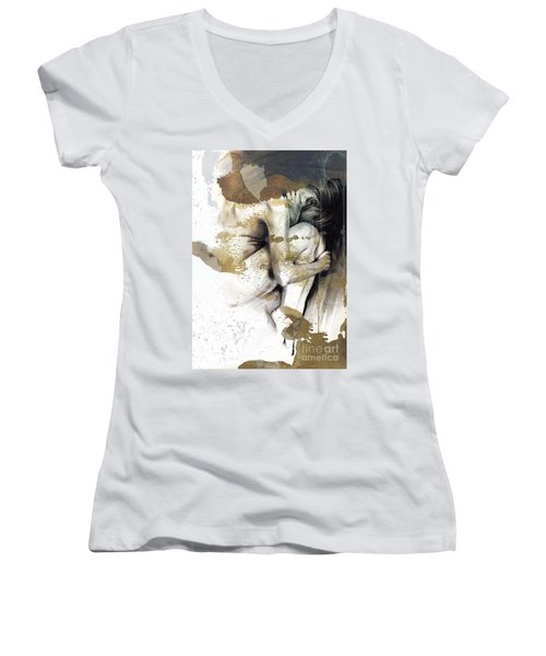 Embryonic IIi With Texture Women's V-Neck T-Shirt (Junior Cut) by Paul Davenport