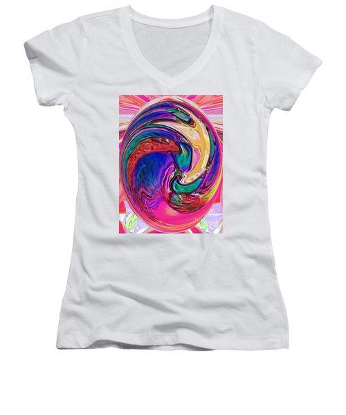 Emergence - Digital Art Women's V-Neck