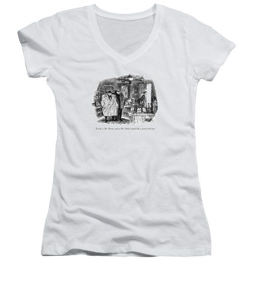 Emily, A Mr. Barnes And A Mr. Noble Would Like Women's V-Neck