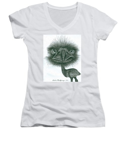 Emu Women's V-Neck (Athletic Fit)