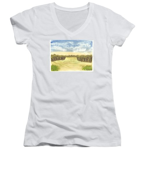 Escape To The Country Women's V-Neck (Athletic Fit)