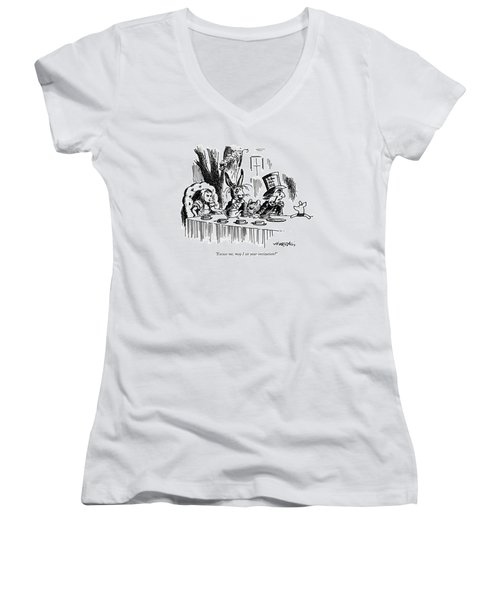 Excuse Me, May I See Your Invitation? Women's V-Neck