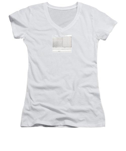 Exit Only Women's V-Neck T-Shirt (Junior Cut) by Darryl Dalton